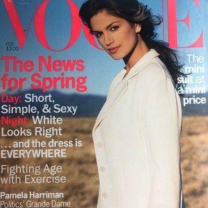 Vogue Magazine FEB. 1994 CINDY CRAWFORD COVER